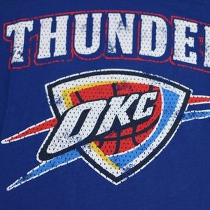 Tops - Oklahoma City Thunder Women's T-Shirt (Blue)